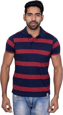 Being Dessi Solid Men's Polo Neck Red T-Shirt