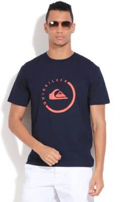 Quiksilver Printed Men's Round Neck Dark Blue T-Shirt