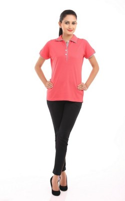 DesignerKarts Solid Women's Polo T-Shirt