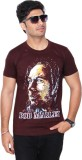 Drakeman Printed Men's Round Neck Brown ...