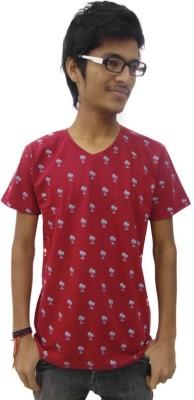 Prage Floral Print Boy's Round Neck T-Shirt