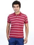 SHRA Striped Men's Polo Neck Red, White ...