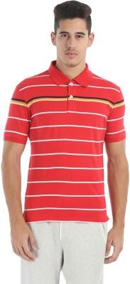 Zobello Striped Men's Polo Neck Multicolor T-Shirt