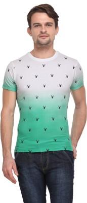 Flippd Graphic Print Men's Round Neck Green T-Shirt