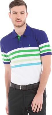Izod Striped Men's Polo Neck Green T-Shirt