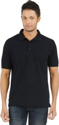 SUNNY Solid Men's Polo Dark Blue T-Shirt