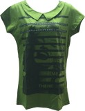 Dovekie Printed Women's Round Neck Green...