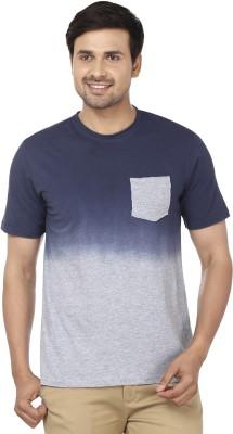Ruse Solid Men's Round Neck Blue, Grey T-Shirt