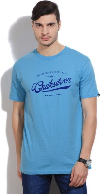 Quiksilver Printed Men's Round Neck Blue T-Shirt