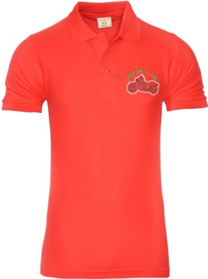 Libra Fashions Solid Men's Polo Neck Red T-Shirt