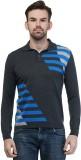 Kalt Self Design Men's Polo Neck Multico...