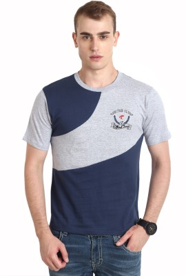Teen Tees Solid Men,s Round Neck Blue T-Shirt