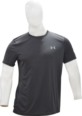Under Armour Solid Men's Round Neck Grey T-Shirt