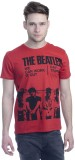 Beatles Printed Men's Round Neck Red T-S...