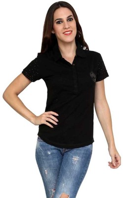 StyleToss Solid Women's Polo T-Shirt