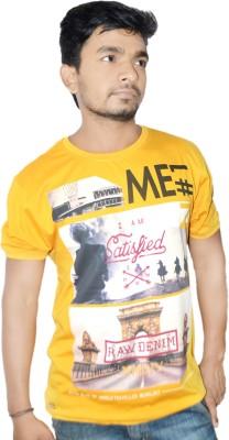 Menology Graphic Print, Printed Men's Round Neck Yellow T-Shirt