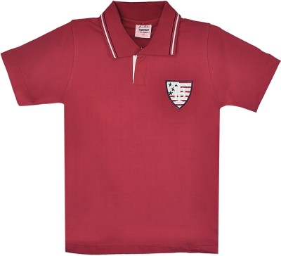 Tonyboy Solid Boy's Polo Neck Red T-Shirt