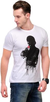 Slingshot Graphic Print Men's Round Neck T-Shirt