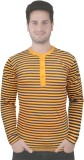 Rags Style Striped Men's Henley Yellow, ...
