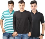 Etoffe Solid Men's Polo Multicolor T-Shi...