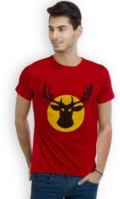 LMAO Printed Men's Round Neck Red T-Shirt
