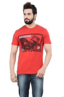 London Bridge Printed Men's Round Neck Red T-Shirt
