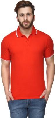 Scott International Solid Men's Polo Red T-Shirt