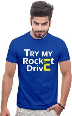 Jazzmyride Printed Men's Round Neck Blue T-Shirt
