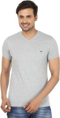 John Players Solid Men's V-neck T-Shirt