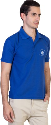 Green Wich United Polo Club Solid Men's Polo Neck Blue T-Shirt