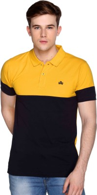 CLUB YORK Embroidered Men's Polo Yellow T-Shirt