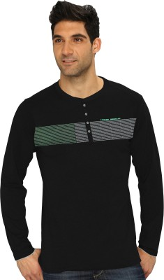 HD Hunter Douglas Solid Men's Henley T-Shirt
