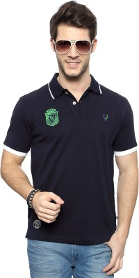 Allen Solly Solid Men's Polo Neck Blue T-Shirt