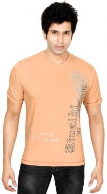 Earls777 Printed Men's Round Neck Orange T-Shirt