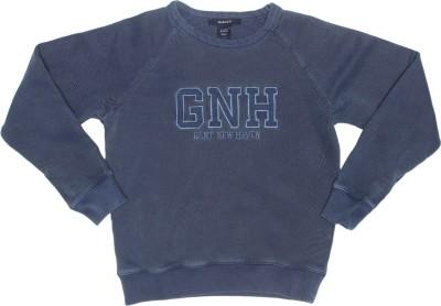Gant Solid Men's Round Neck Dark Blue T-Shirt
