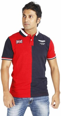 Rassberry Solid Men's Polo Neck T-Shirt