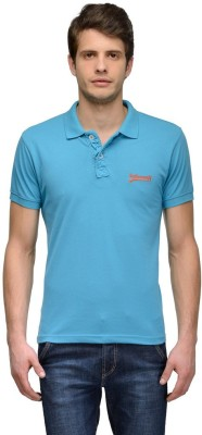 Tailor Craft Solid Men's Polo Light Blue T-Shirt