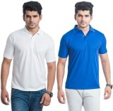 DoubleF Solid Men's Polo Neck Multicolor...