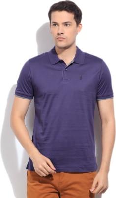Arrow Newyork Solid Men's Polo Purple T-Shirt