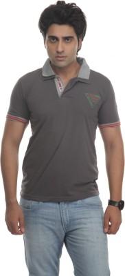 TT Solid Men's Polo Neck Reversible Grey T-Shirt