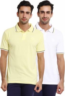Classic Polo Solid Men's Polo Neck Multicolor T-Shirt