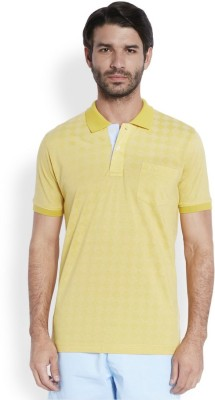 ColorPlus Solid Men's Polo Neck Yellow T-Shirt