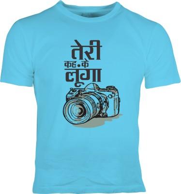 Oneliner Printed Men's Round Neck Blue T-Shirt