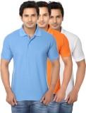 AWA Solid Men's Polo Neck Multicolor T-S...