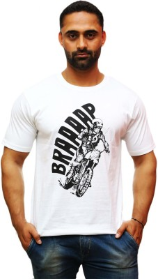 Royal Bikers Graphic Print Men's Round Neck T-Shirt