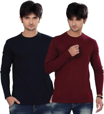 Elegance Cut Solid Men's Round Neck Multicolor T-Shirt