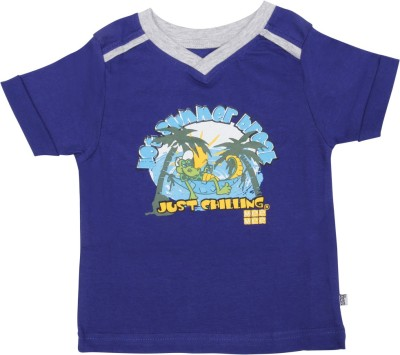 Mee Mee Solid Baby Boy's V-neck Blue T-Shirt