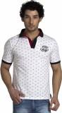 Klub Fox Printed Men's Polo Neck White T...