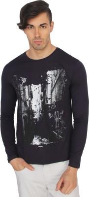 Calvin Klein Printed Men's Round Neck Purple T-Shirt