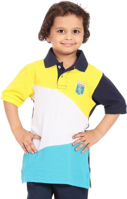 Posh Kids Solid Boy's Polo Neck T-Shirt